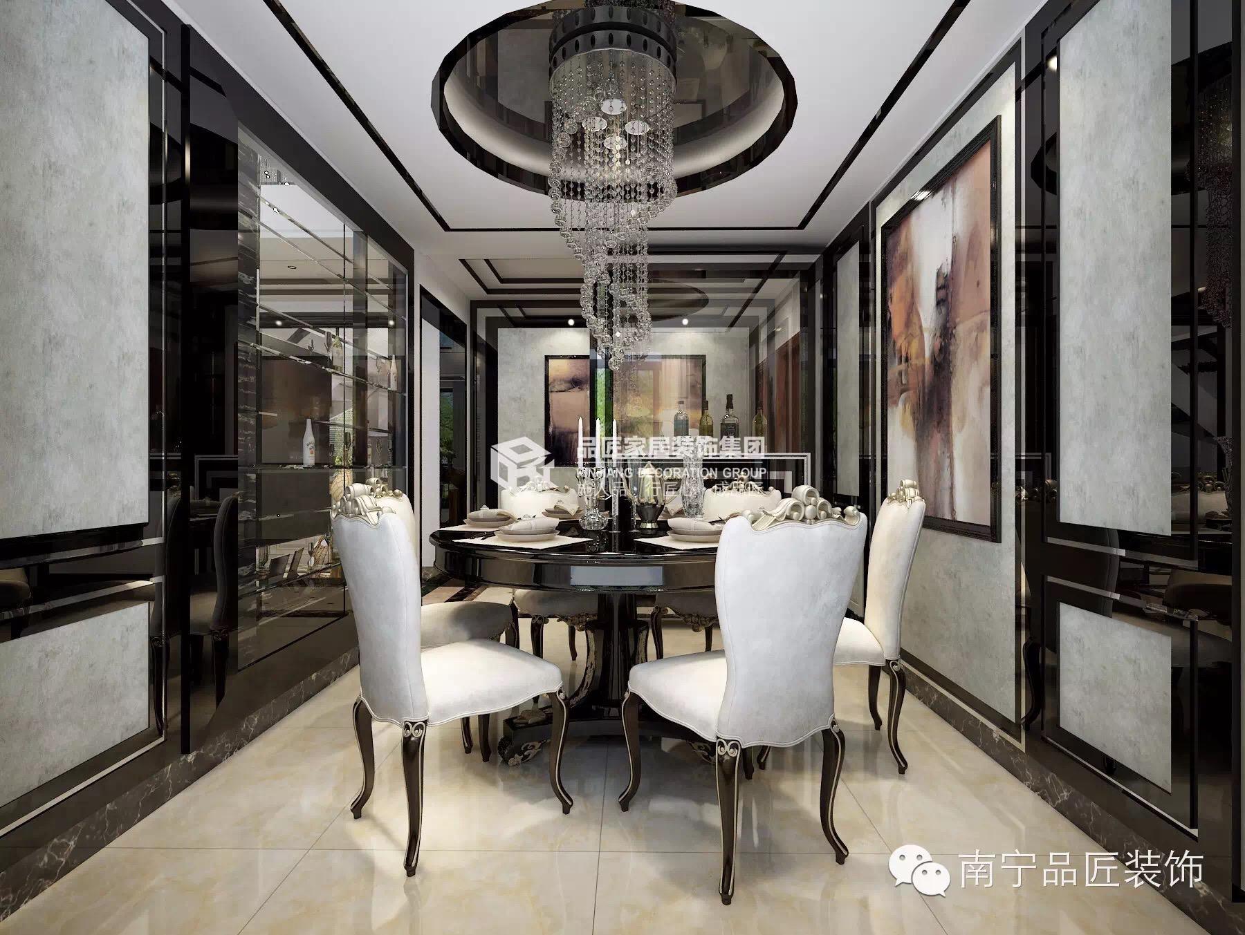 欧式 餐厅图片来自广西品匠装饰集团在大观天下楼中楼奢华欧式装修风格的分享