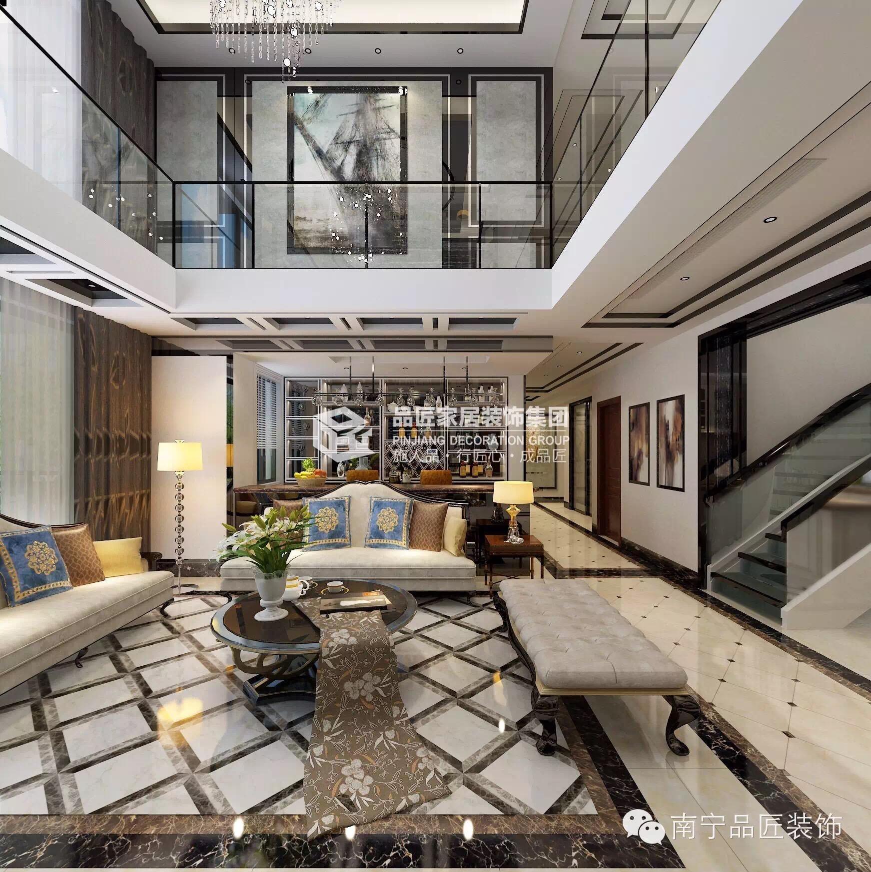 欧式 客厅图片来自广西品匠装饰集团在大观天下楼中楼奢华欧式装修风格的分享