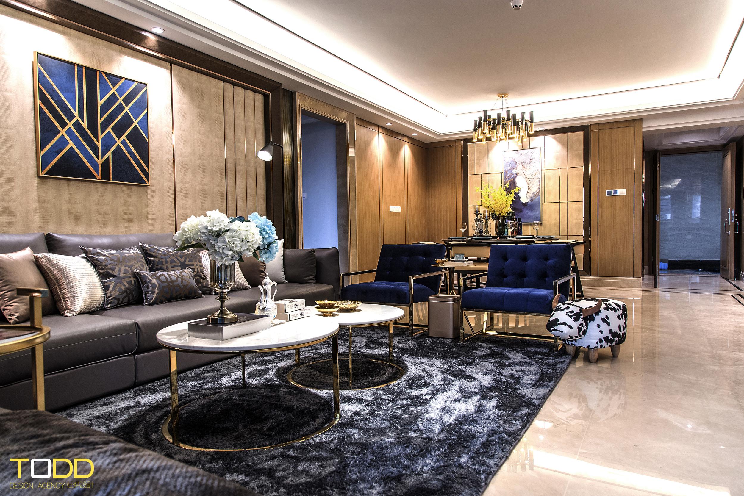 现代轻奢 白领 别墅 四居 混搭 客厅图片来自杜特设计-杨文旭在《轻奢物语》-杜特设计的分享