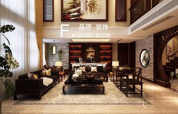 八桂绿城别墅新中式风格装修案例