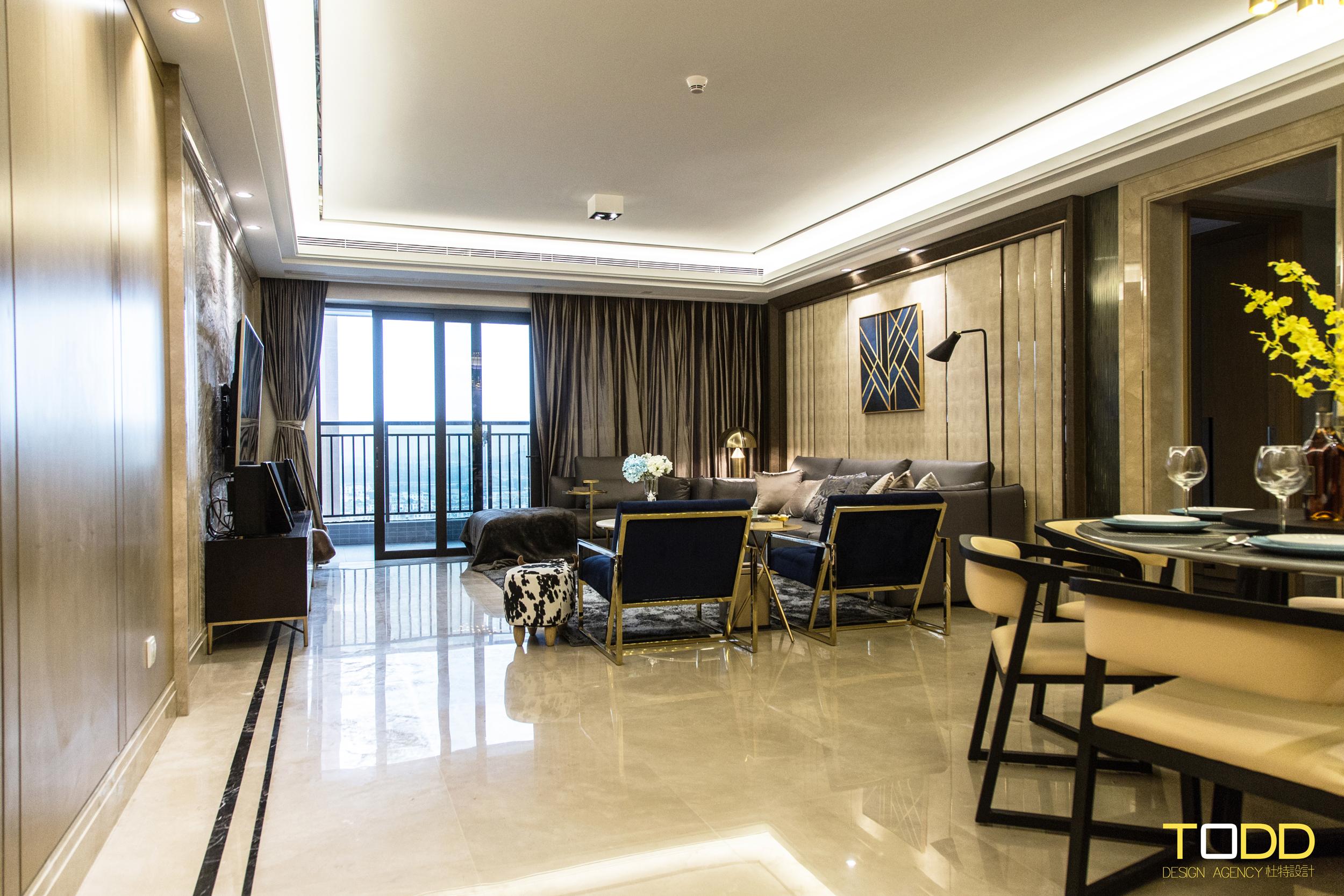 现代轻奢 白领 别墅 四居 混搭 餐厅图片来自杜特设计-杨文旭在《轻奢物语》-杜特设计的分享