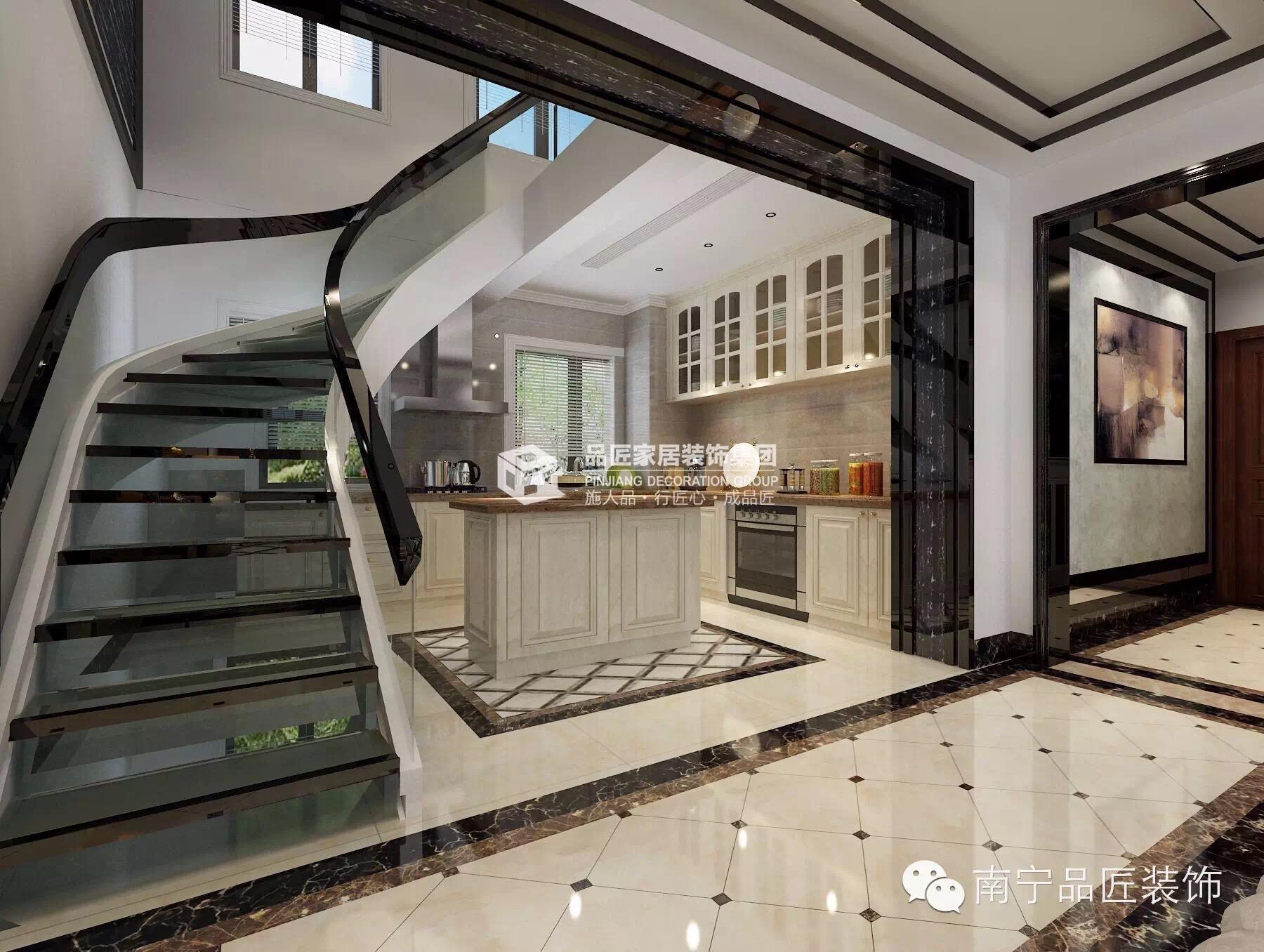 欧式 楼梯图片来自广西品匠装饰集团在大观天下楼中楼奢华欧式装修风格的分享