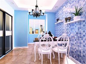 地中海 田园 简约 混搭 三居 80后 餐厅图片来自小蜗置家装饰在世茂城123㎡地中海的分享