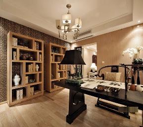 中式 现代 欧式 二居 80后 书房图片来自小蜗置家装饰在花样城74.77㎡ 中式风格的分享