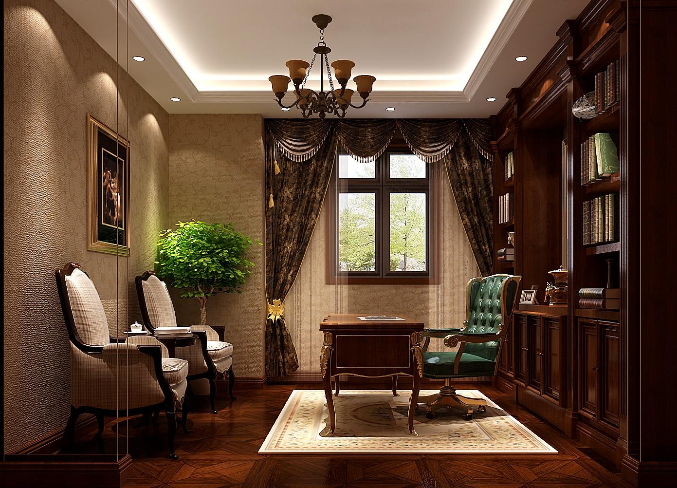 书房图片来自也儿在潮白河孔雀城联排别墅的分享
