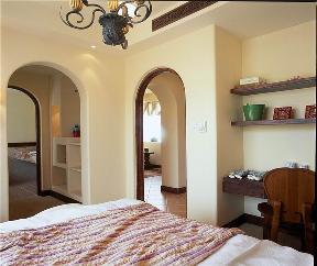 地中海 简约 二居 80后 卧室图片来自小蜗置家装饰在华润凯旋天地79.13㎡地中海风格的分享