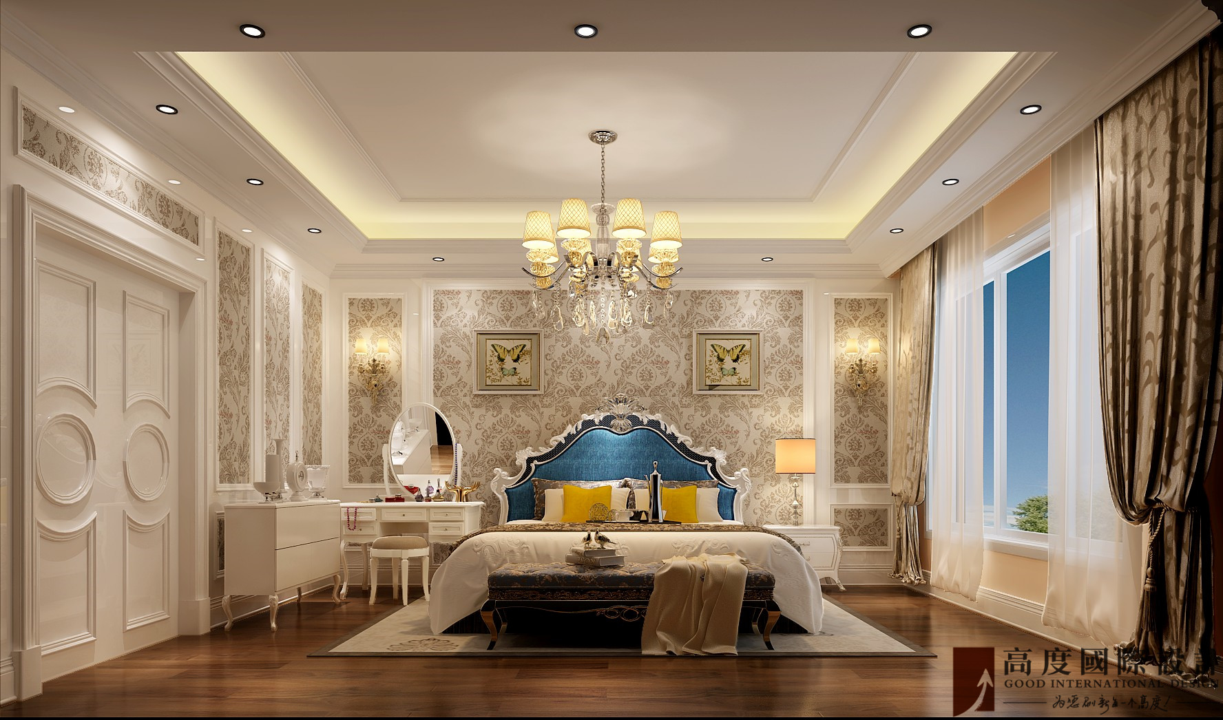 卧室图片来自也儿在大学里孔雀城的分享