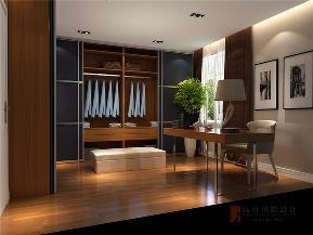 港式 三居 大户型 公寓 复式 小资 衣帽间图片来自高度国际姚吉智在150平米港式三居走心的轻奢雅致的分享