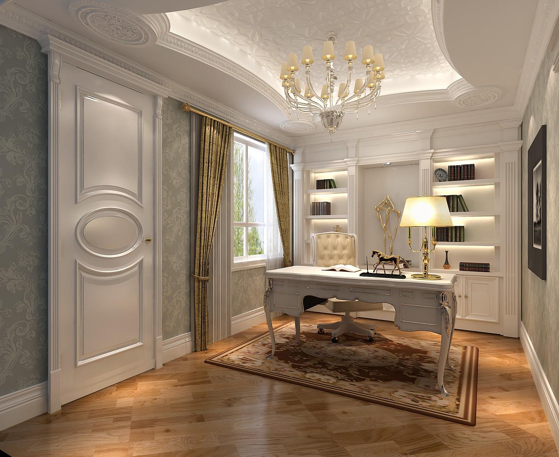 法式 别墅 旧房改造 80后 白领 书房图片来自也儿在长桥墅的分享