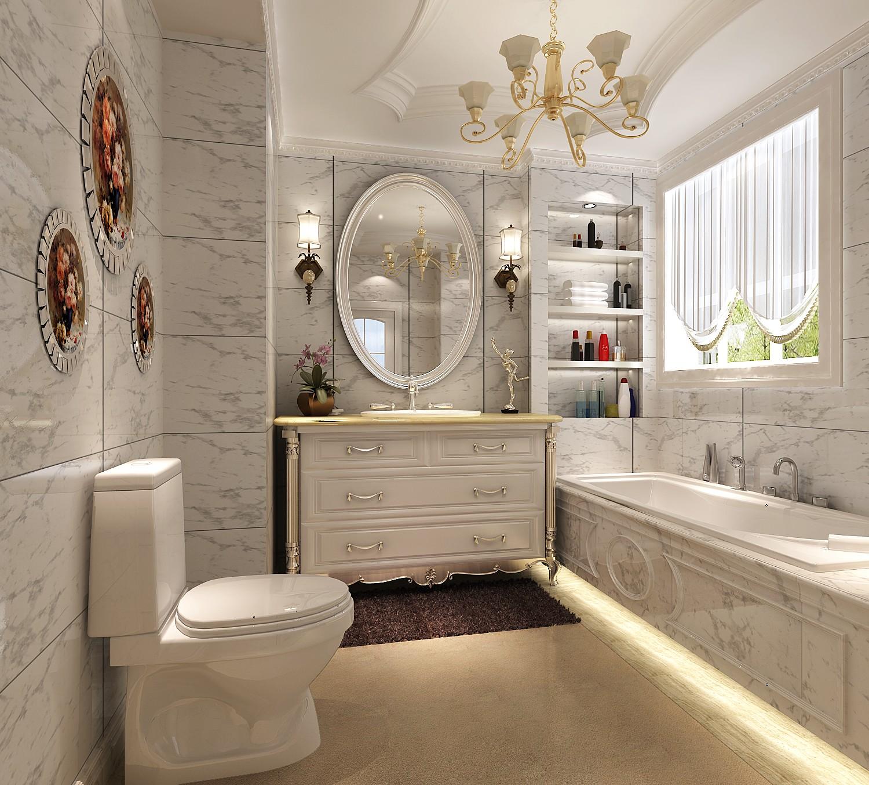 法式 别墅 旧房改造 80后 白领 卫生间图片来自也儿在长桥墅的分享