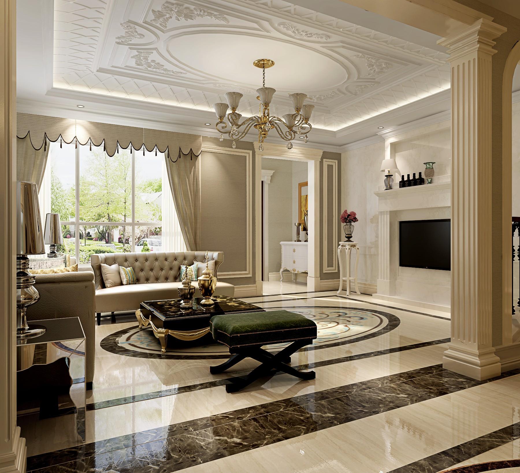 法式 别墅 旧房改造 80后 白领 客厅图片来自也儿在长桥墅的分享