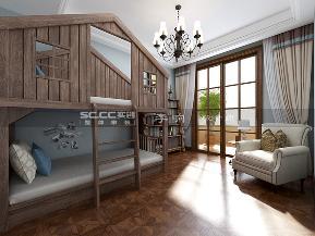 别墅 金秋泰和郡 实创 美式 新古典 儿童房图片来自快乐彩在新古典美式金秋泰和郡318平装修的分享