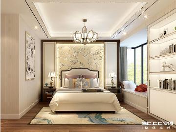 新中式三居180㎡装修效果图