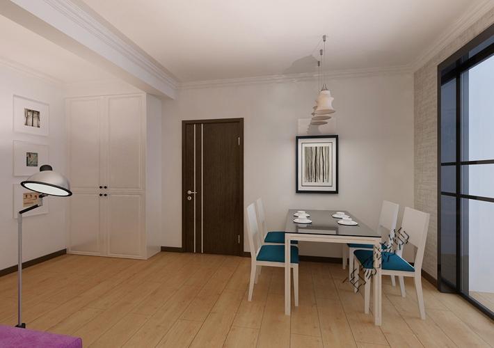 三居 客厅 餐厅图片来自百家装饰小西在五矿弘园112平现代风格的分享