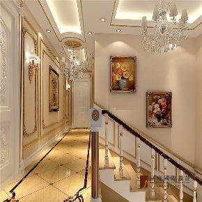 法式 新古典 别墅 跃层 大户型 复式 高帅富 楼梯图片来自高度国际姚吉智在320平米法式别墅皇家风范的品味的分享