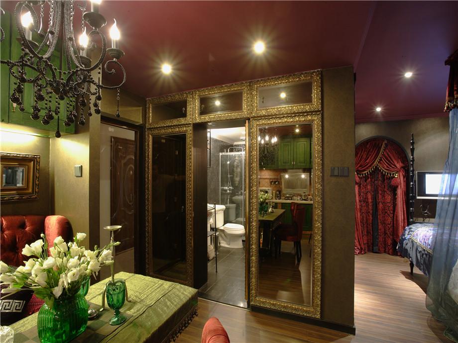 现代 异域风情 三居 小资 客厅图片来自小蜗置家装饰在东原左岸89㎡异域风情的分享