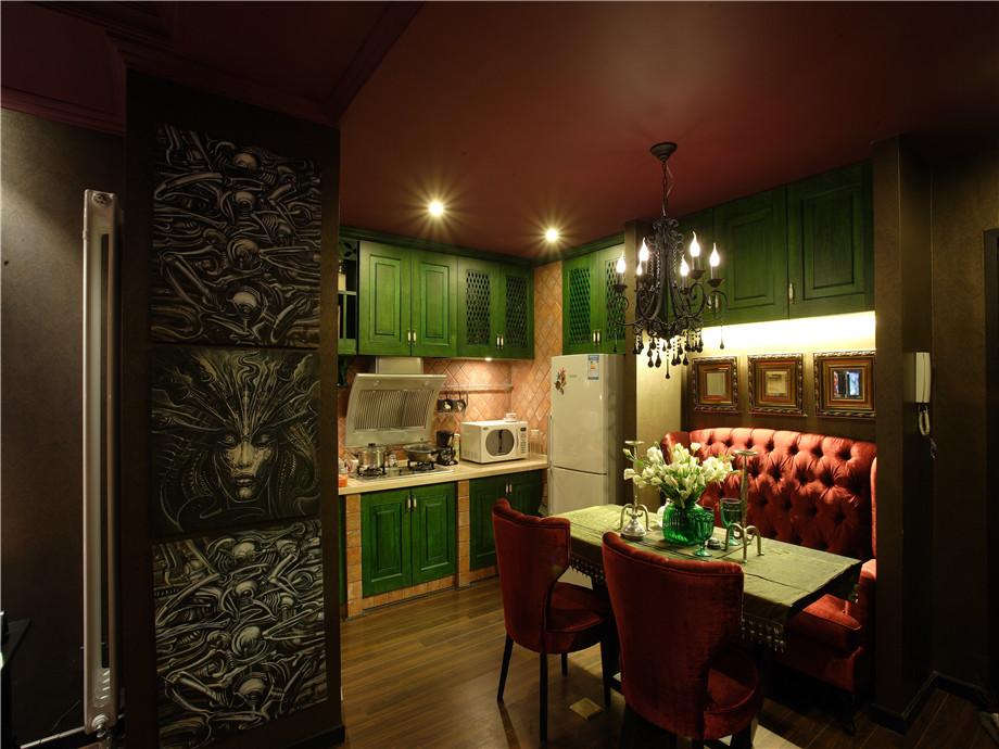 现代 异域风情 三居 小资 餐厅图片来自小蜗置家装饰在东原左岸89㎡异域风情的分享