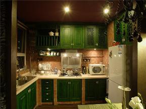 现代 异域风情 三居 小资 厨房图片来自小蜗置家装饰在东原左岸89㎡异域风情的分享