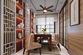 简约 中式 三居 小资 书房图片来自小蜗置家装饰在霏红榭97.68㎡现代中式风格的分享