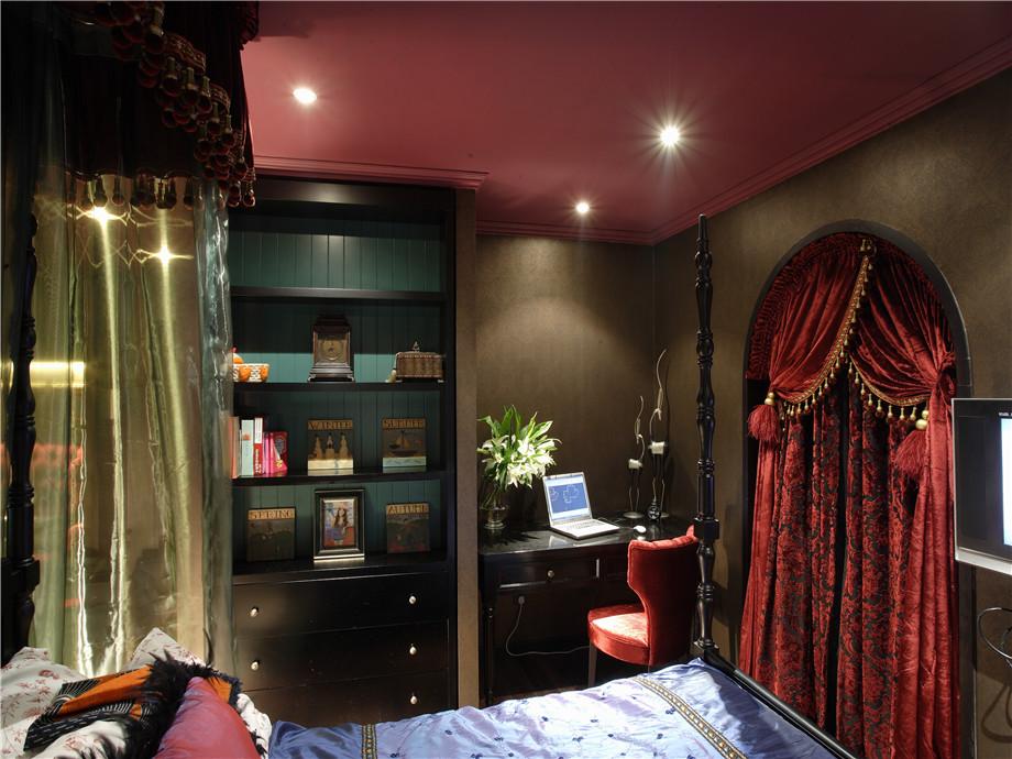 现代 异域风情 三居 小资 卧室图片来自小蜗置家装饰在东原左岸89㎡异域风情的分享