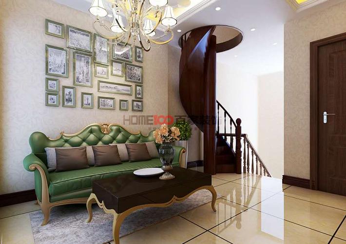 客厅图片来自沈阳百家装饰小姜在美式别墅260平的分享