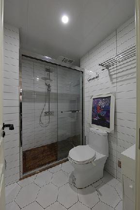 北欧 混搭 三居 白领 卫生间图片来自家装大管家在90平轻文艺小居 清新混搭北欧风的分享