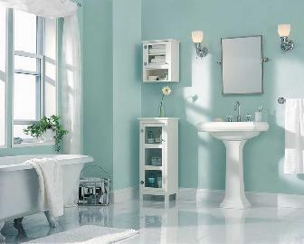 浴室颜色总是看起来清新干净