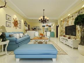 二居 80后 小资 地中海 客厅图片来自乐豪斯实景体验馆在地中海风格,家里的碧海蓝天!的分享