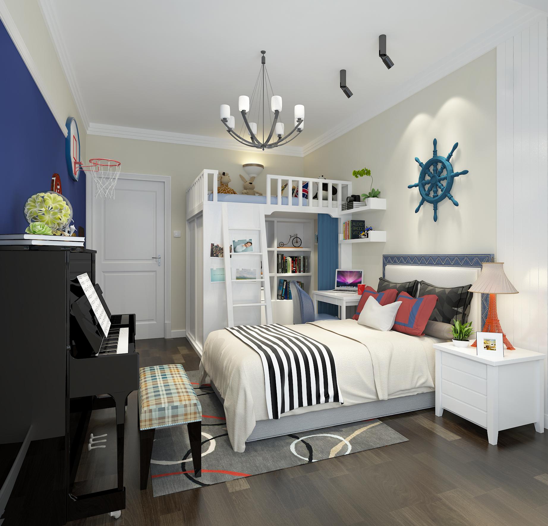 简约 混搭 田园 白领 收纳 80后 儿童房图片来自圣奇凯尚室内设计工作室在圣奇凯尚装饰-简约美式分格案例的分享