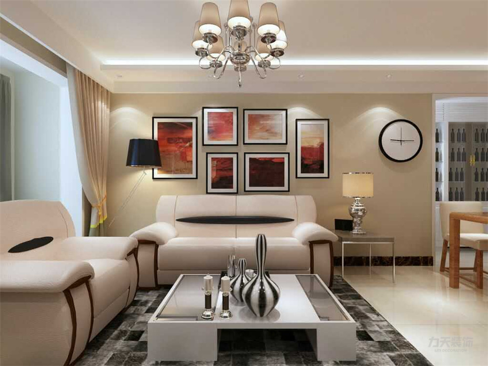简约 现代 二居 收纳 小资 客厅图片来自阳光力天装饰在力天装饰-观锦-65㎡-现代简约的分享