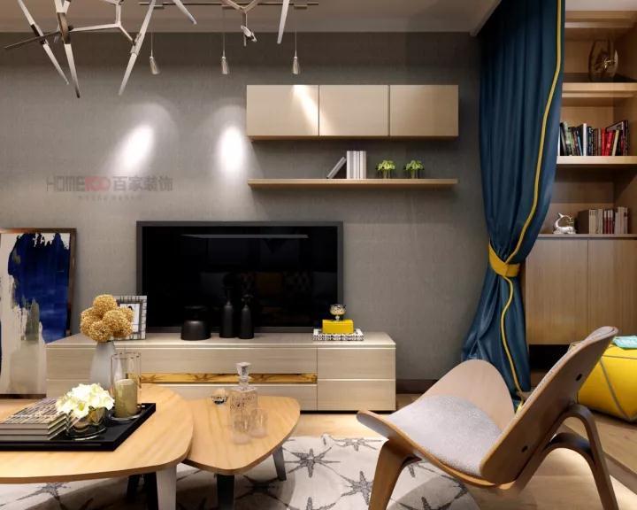 客厅图片来自沈阳百家装饰小姜在越秀星汇蓝海82平北欧风格的分享
