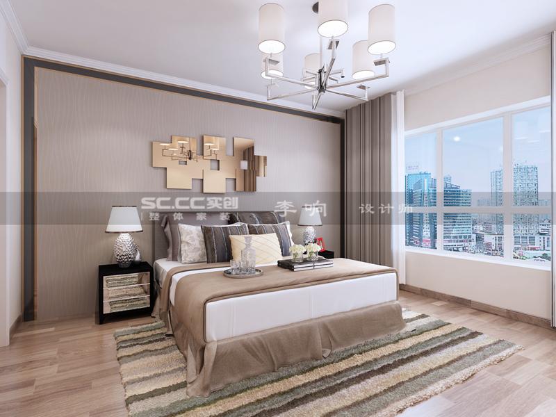 现代 奢华 实创 晓港名城 卧室图片来自快乐彩在晓港名城五期223平现代奢华装修的分享