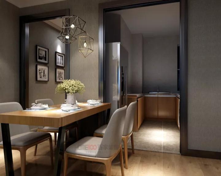 餐厅图片来自沈阳百家装饰小姜在越秀星汇蓝海82平北欧风格的分享