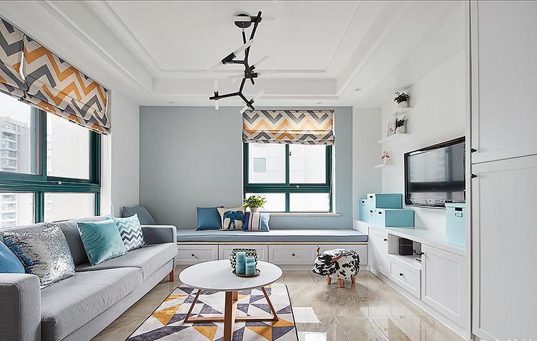 客厅图片来自家装大管家在90平极简北欧居 舒适惬意永相随的分享