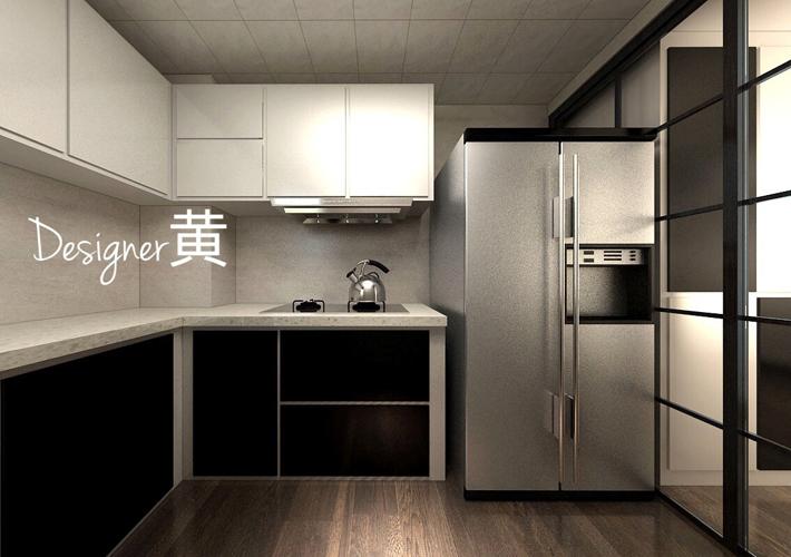厨房图片来自沈阳百家装饰小姜在益格风情湾78平现代风格的分享