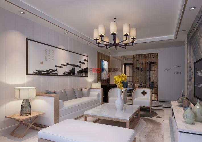 新中式风格 环保 80后 旧房改造 小资 客厅图片来自百家装饰--小莹在格林玫瑰湾 126平新中式风格的分享