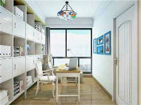 地中海 80后 小资 书房图片来自东大家居设计在恒地悦山湖地中海的分享
