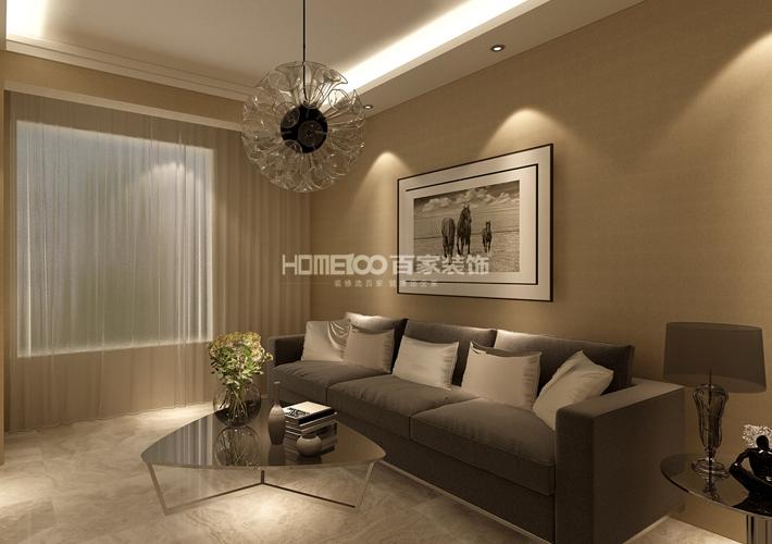 客厅图片来自沈阳百家装饰小姜在昆山豪庭82平港式风格的分享