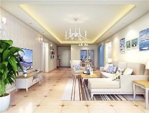 地中海 80后 小资 客厅图片来自东大家居设计在恒地悦山湖地中海的分享