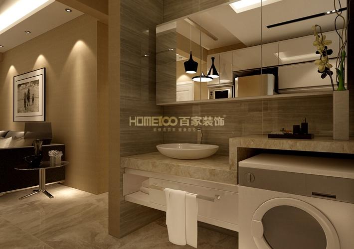 卫生间图片来自沈阳百家装饰小姜在昆山豪庭82平港式风格的分享