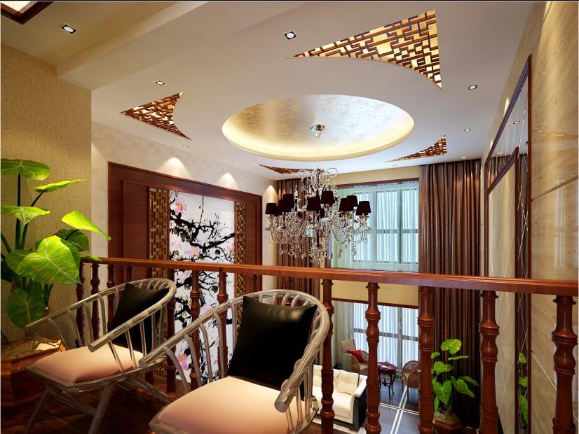 峰光无限装 中式装修 西安装修公 装修公司 客厅图片来自陕西峰光无限装饰在富力城176㎡新中式的分享