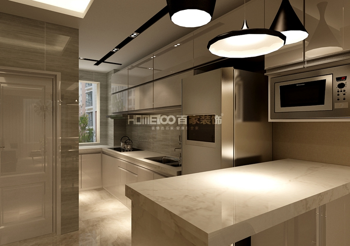 餐厅图片来自沈阳百家装饰小姜在昆山豪庭82平港式风格的分享