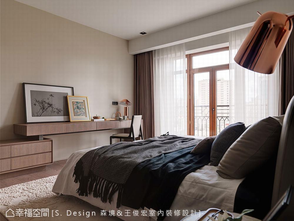 二居 大户型 现代 卧室图片来自幸福空间在风尚荟萃.创意集思的分享