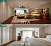 卧室效果图和实景图对比