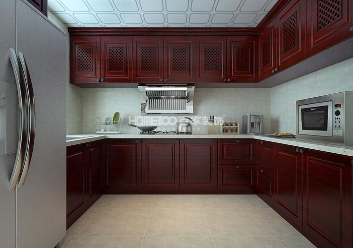 厨房图片来自沈阳百家装饰小姜在东大迎湖园157平新中式风格的分享