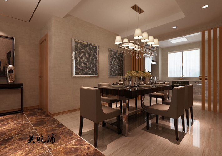 餐厅图片来自沈阳百家装饰小姜在地王国际117平现代奢华效果图的分享