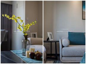 简约 现代 港式 四居 收纳 客厅图片来自四川欢乐佳园装饰在【设•界】他和她的蓝色现代生活的分享