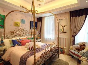 新古典 法式 别墅 跃层 复式 大户型 高帅富 儿童房图片来自高度国际姚吉智在350平米法式梦幻色彩浪漫情怀的分享
