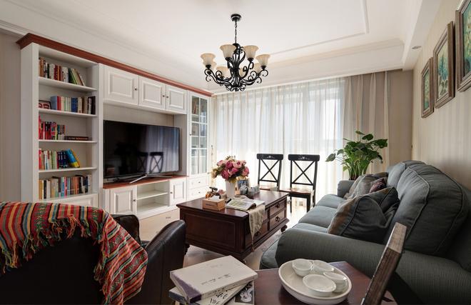 三居 简约 客厅图片来自唯真装饰在广电兰亭时代三居室的分享