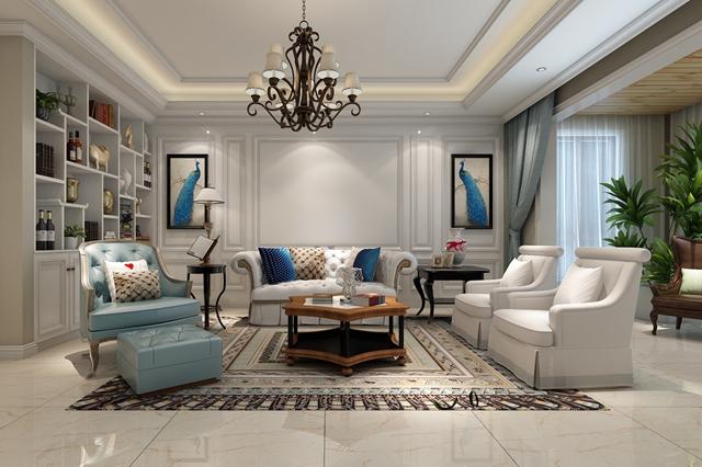 美式 客厅图片来自峰光无限装饰大鹏在大华公园世家220㎡美式风格的分享